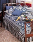Blue Log Cabin by Patchmagic Quilts